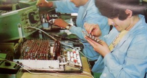 "Монтаж на електронни калкулатори в завод ""Оргтехника"""